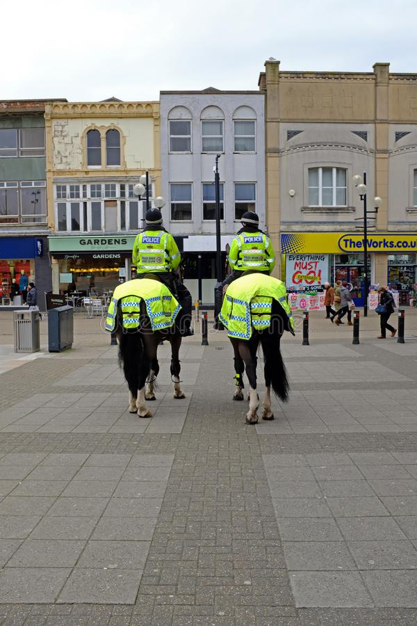 Mounted Police Officers stock image