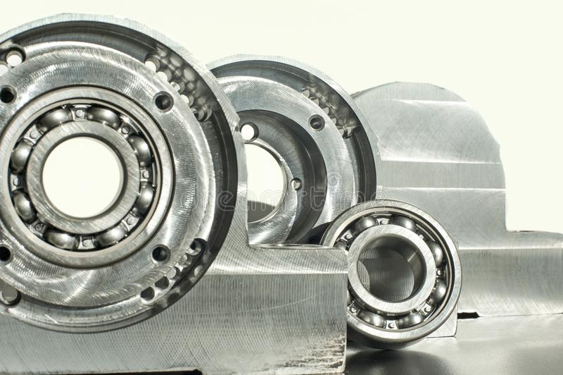 Mounted roller bearing unit. Mechanical engineering. Mounted roller bearing unit blank. Mechanical engineering royalty free stock photo