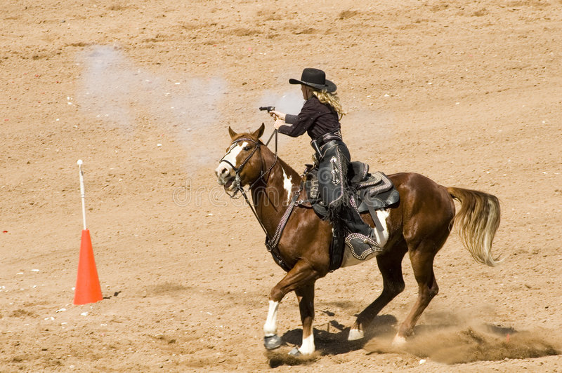 Download Mounted shooting 6 stock photo. Image of horse, casings - 2217914