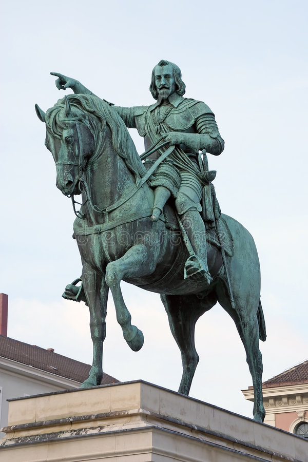 Download Mounted Statue Of Emperor Maximilian Stock Photo - Image: 4310962
