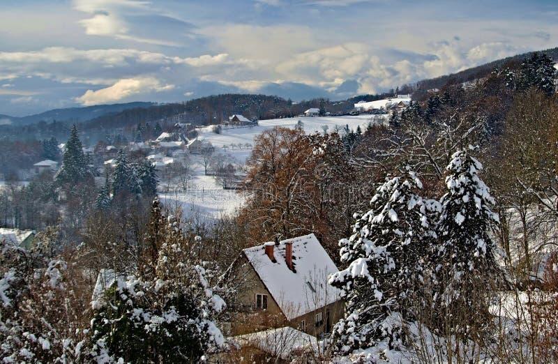 Mountein de neige photos stock