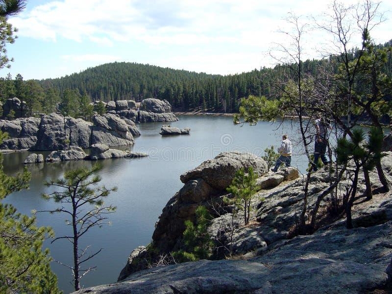 mountian的湖 库存图片
