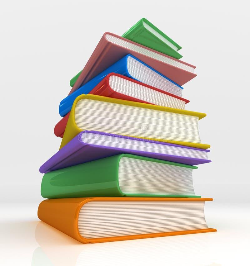 Mountian de libros stock de ilustración