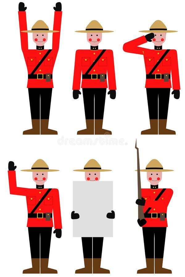 Mountie stock illustrationer