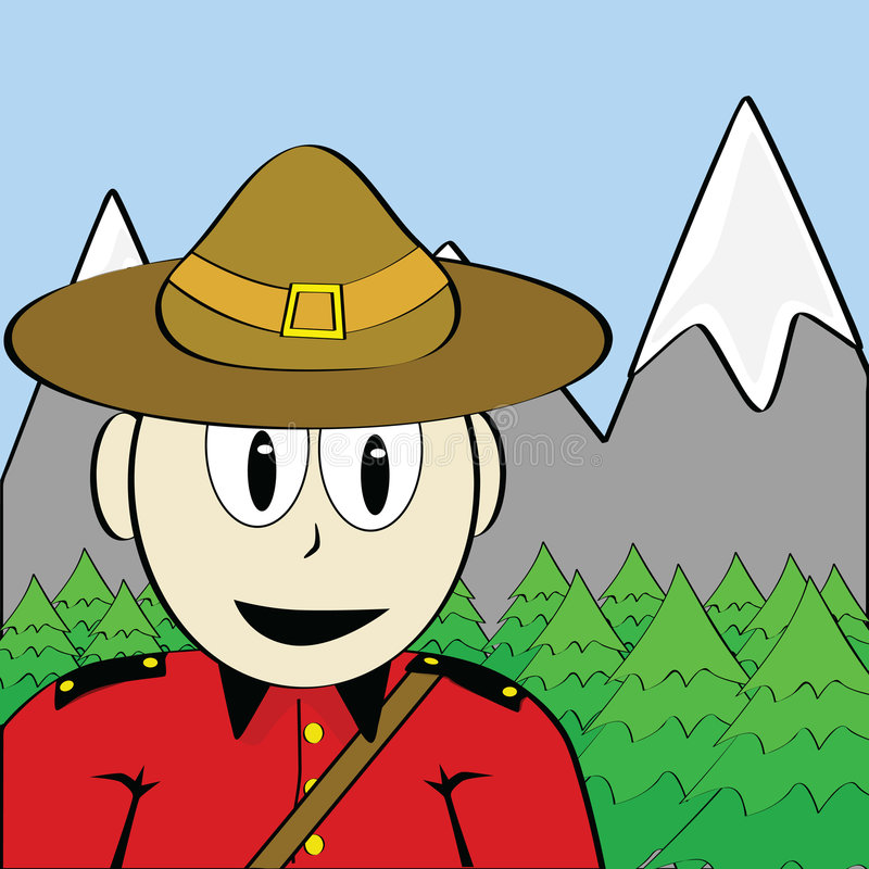 Mountie illustration de vecteur