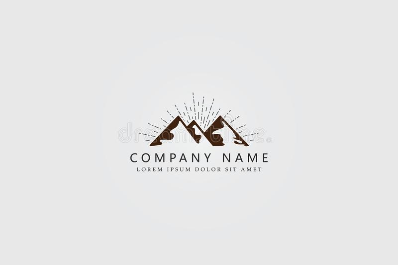 Mountine Logo Designs con concepto simple y elegante del vintage libre illustration