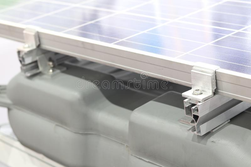 Clamp of Solar panel ; Installation stock images