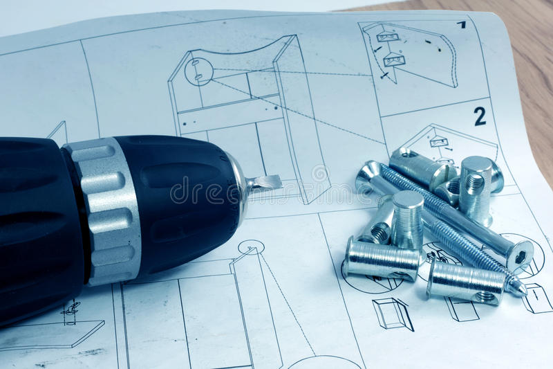 Mounting furniture stock photo