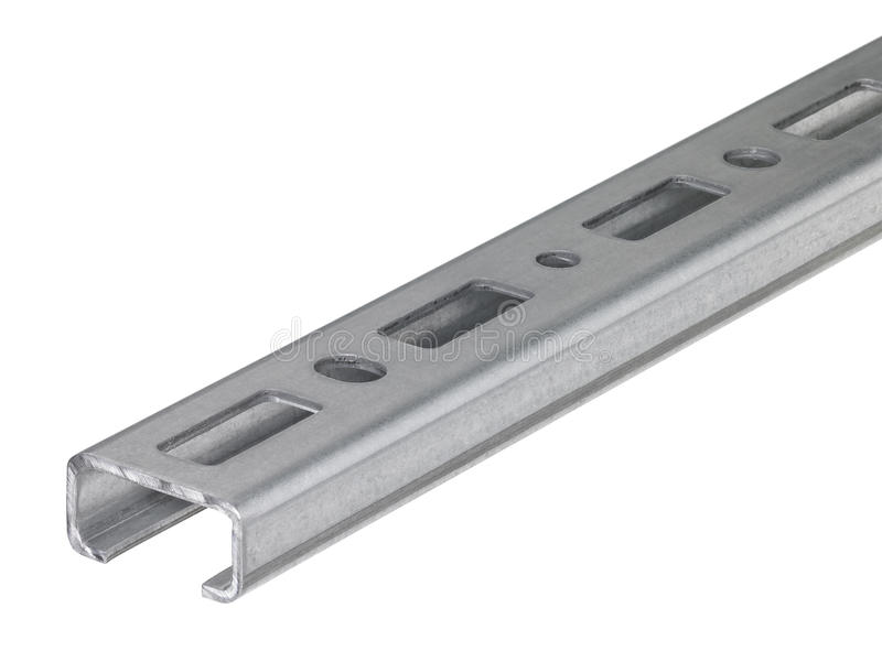 Download Mounting rail stock image. Image of fixation, hole, attachment - 26020713
