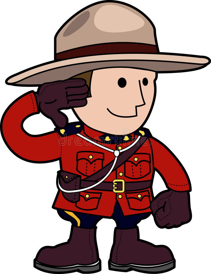 mounty illustration vektor illustrationer