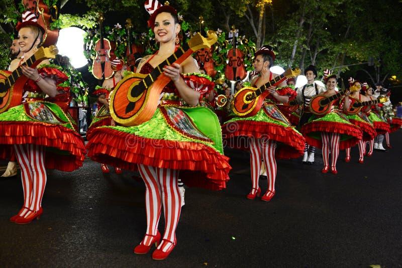 Mouraria, distrito del Fado - desfile popular, viejas festividades de las vecindades de Lisboa imagen de archivo