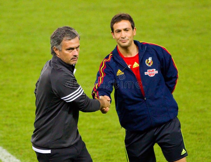 Mourinho und Referent lizenzfreie stockbilder