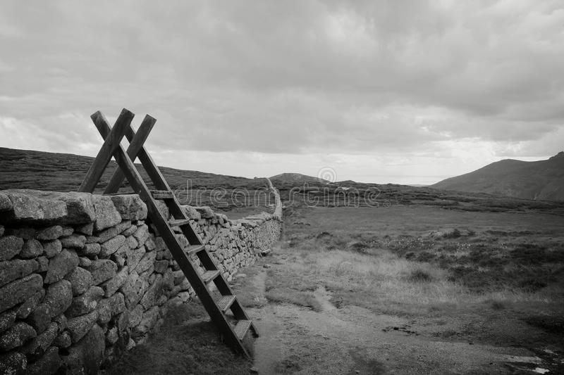 Mourne Wall stock photography