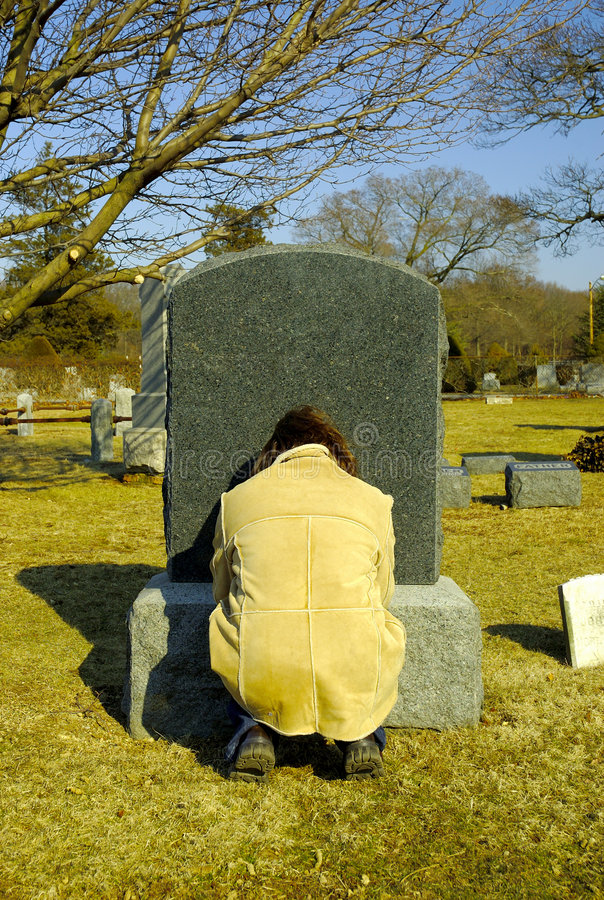 Download Mourning stock photo. Image of death, headstone, people - 89196