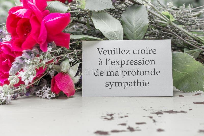 Mourning card stock image