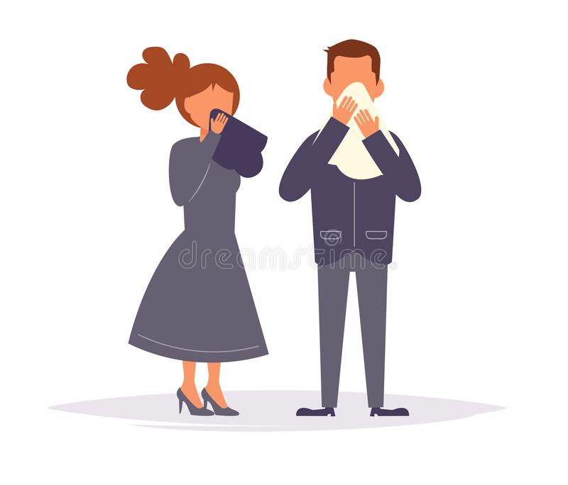 Mourning. Funeral. People are crying Vector. Cartoon. Isolated art. Mourning. Funeral People are crying vector illustration