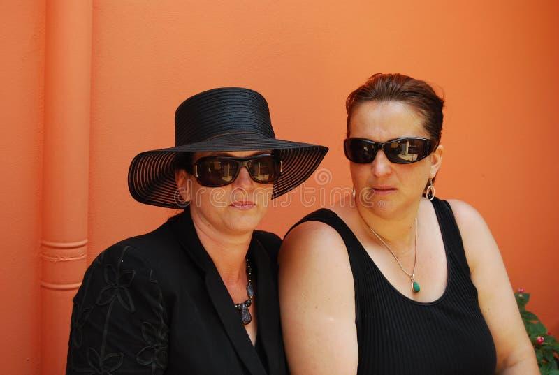 Mourning ladies royalty free stock photo