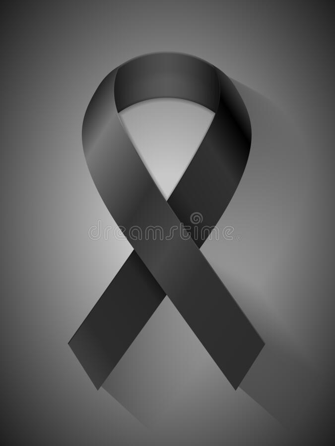 Free Mourning Ribbon Royalty Free Stock Photo - 215258615