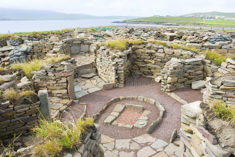 Mousa Ruinen, Shetland lizenzfreie stockfotografie