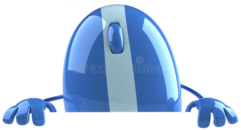 Mouse. Optical mouse, 3d generated picture royalty free illustration