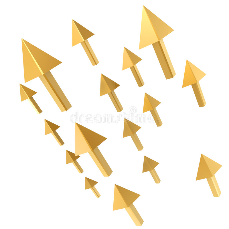 Mouse arrow stock illustration
