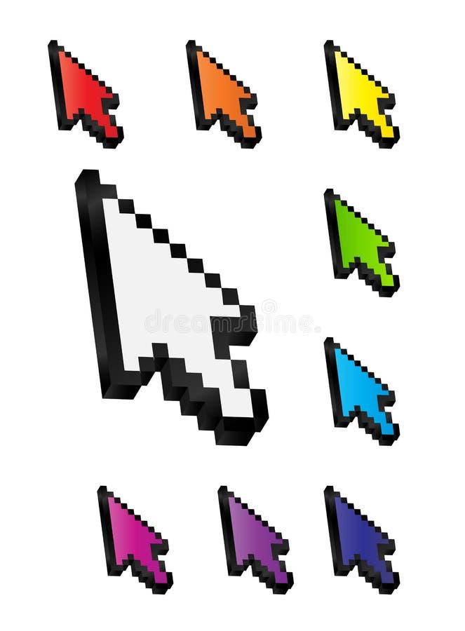 Free Mouse Arrow Cursor Vector Illustration Royalty Free Stock Photos - 35066188