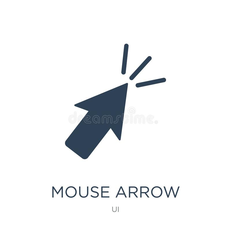Mouse arrow icon in trendy design style. mouse arrow icon isolated on white background. mouse arrow vector icon simple and modern. Flat symbol for web site stock illustration