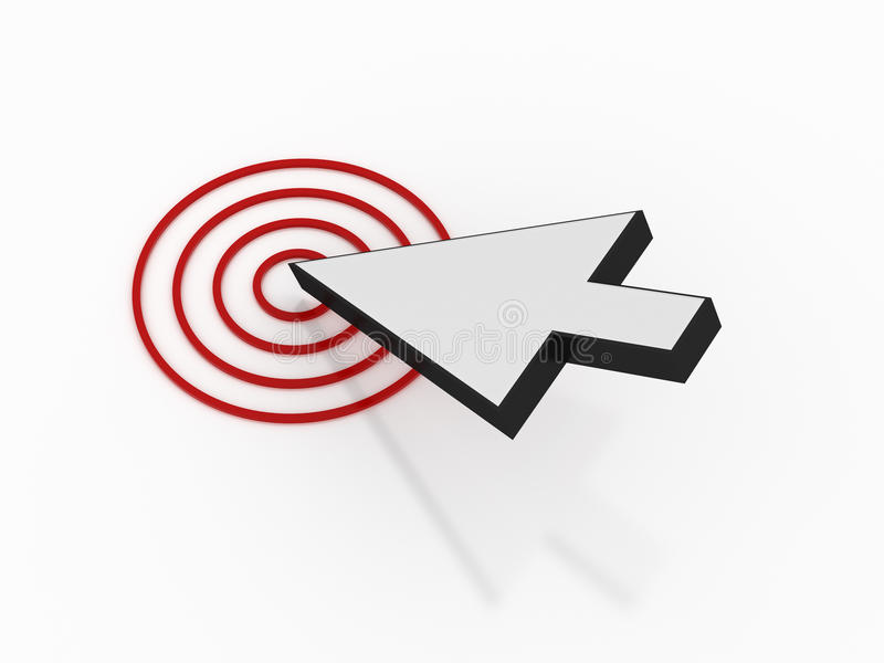 Mouse Arrow With Target Royalty Free Stock Photos