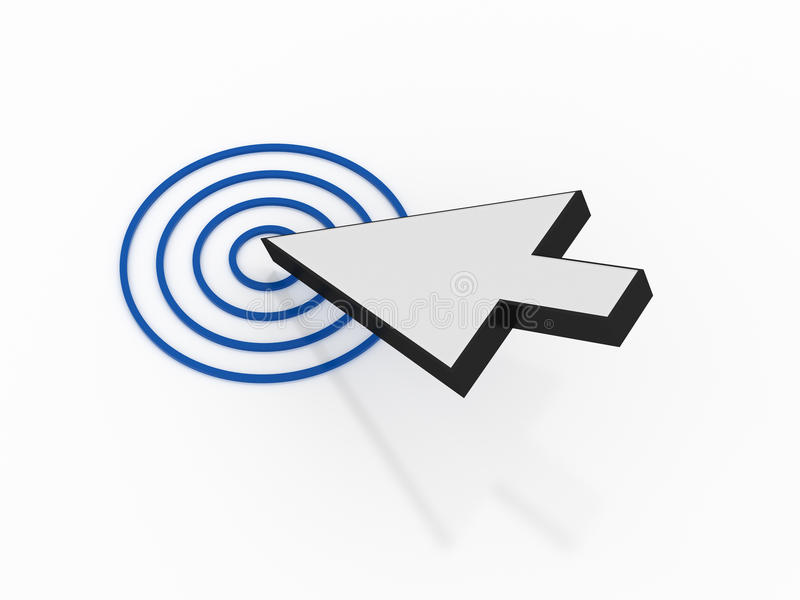 Download Mouse Arrow With Target Royalty Free Stock Photos - Image: 26477678