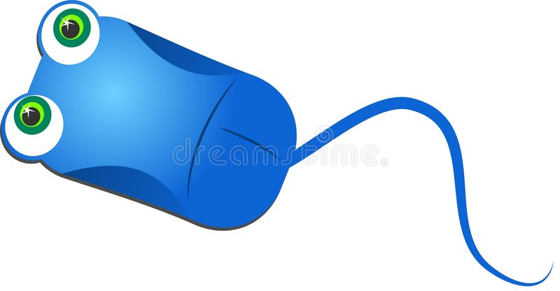 Mouse blu del calcolatore royalty illustrazione gratis