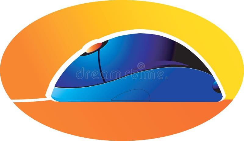 Mouse blu del calcolatore royalty illustrazione gratis