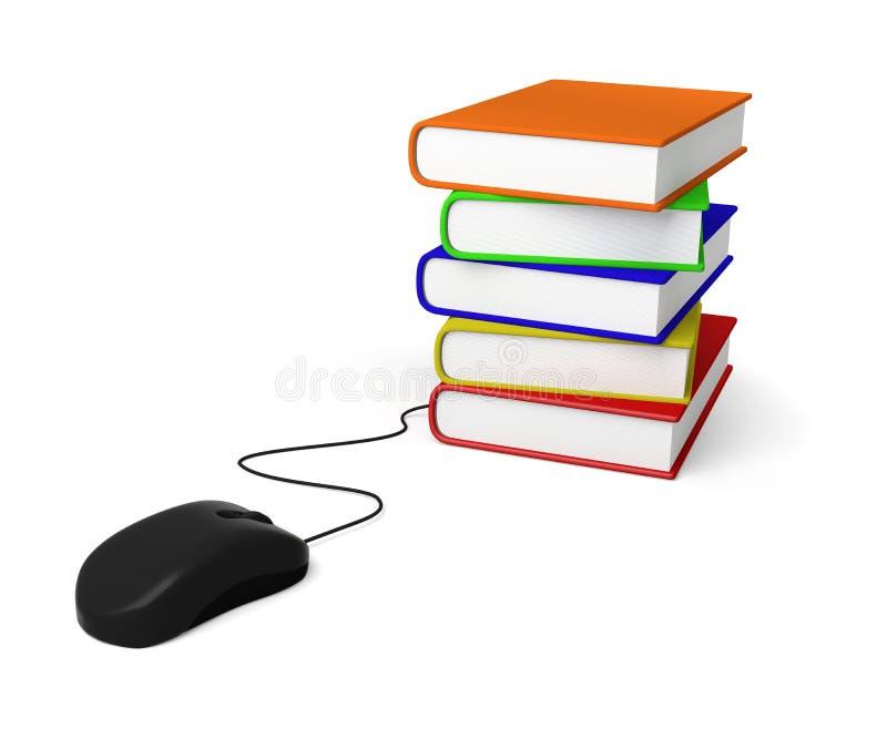 Mouse book education e-book e-learning shopping reading stock image
