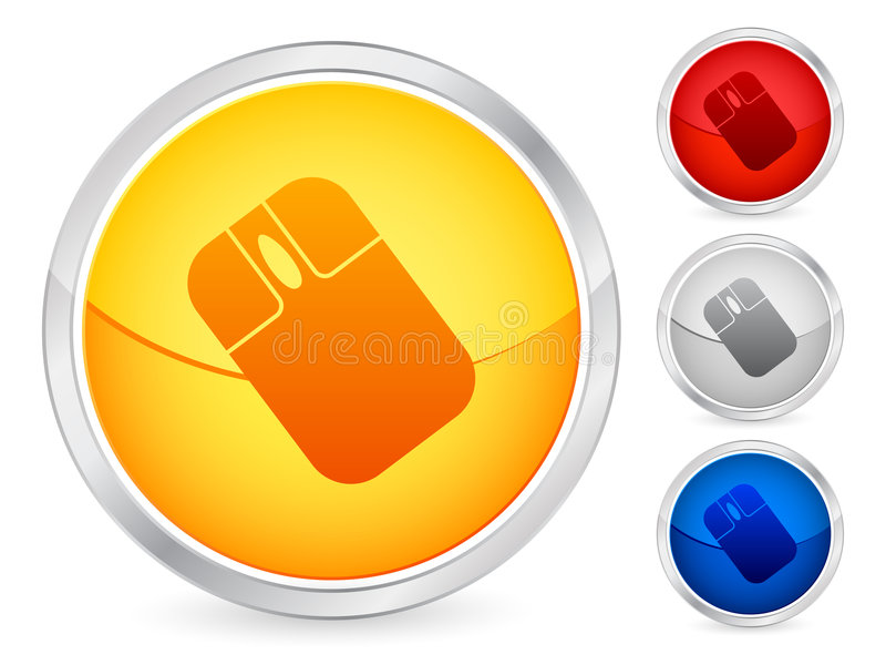 Mouse button stock illustration