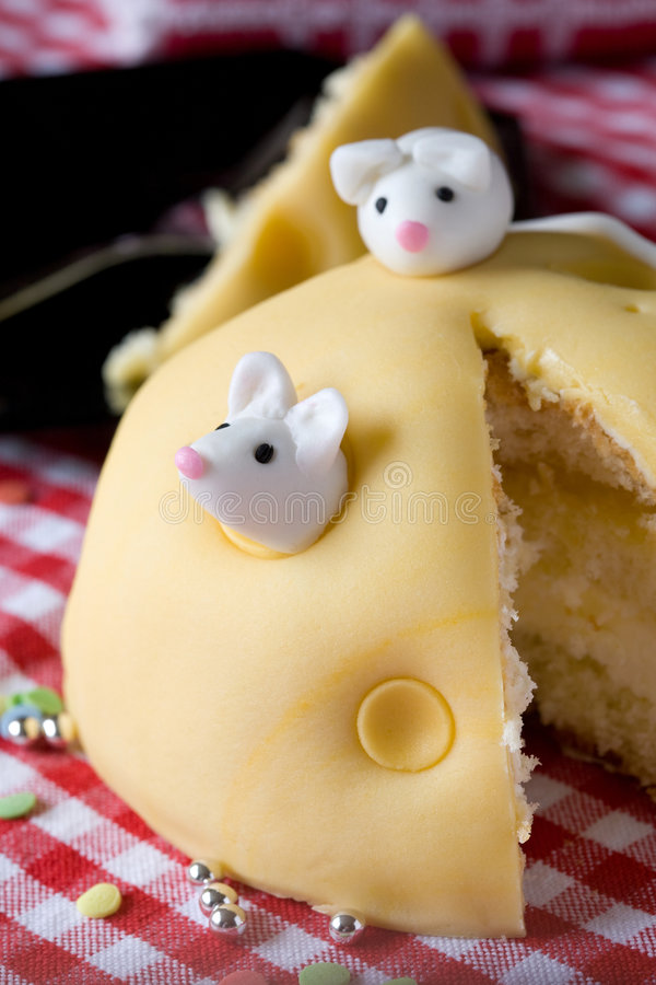 Mouse cake stock image