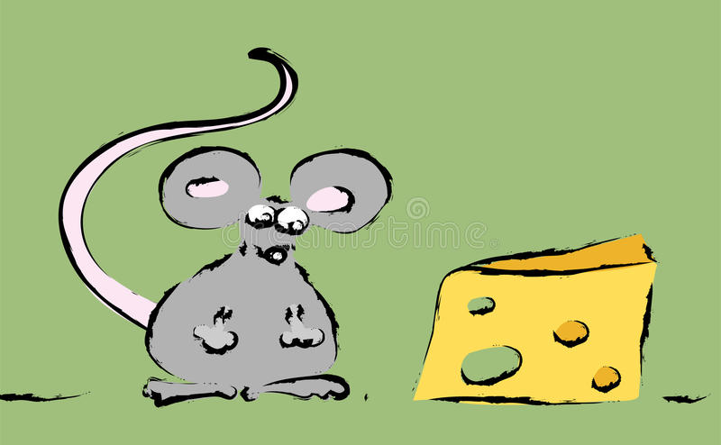 Download Mouse With Cheese Royalty Free Stock Photography - Image: 12619317