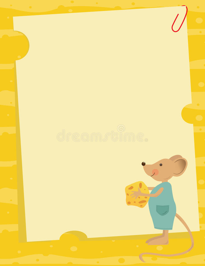 Mouse And Cheese Note Royalty Free Stock Image