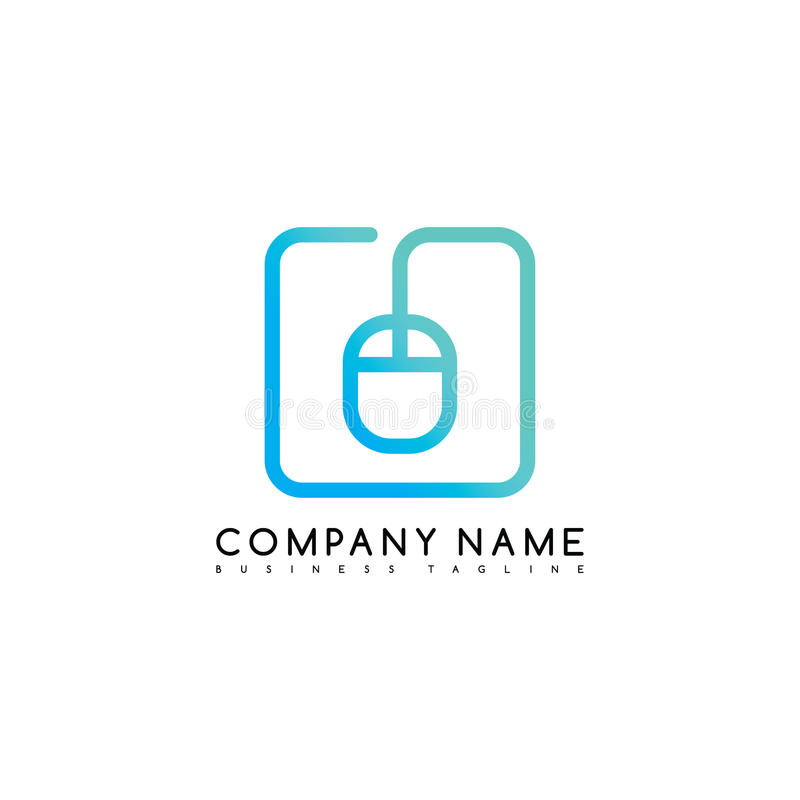 mouse click brand company template logo logotype art vector illustration