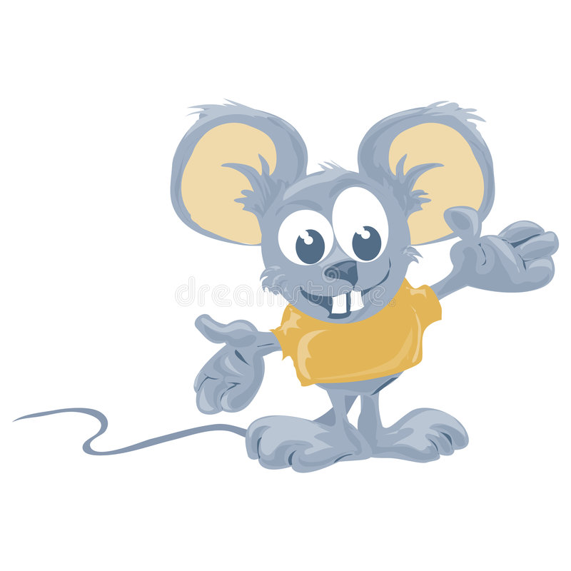 Mouse with clipping path. Illustration with clipping path royalty free illustration