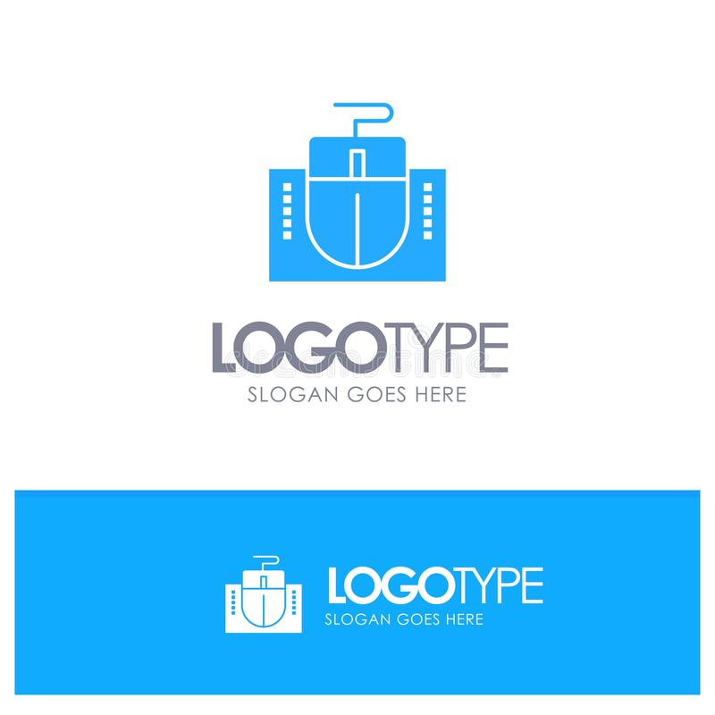 Mouse, Computer, Hardware, Education Blue Logo vector vector illustration