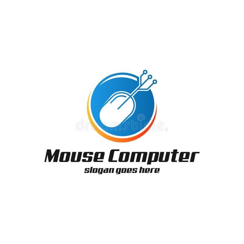 Mouse Computer Logo art royalty free illustration