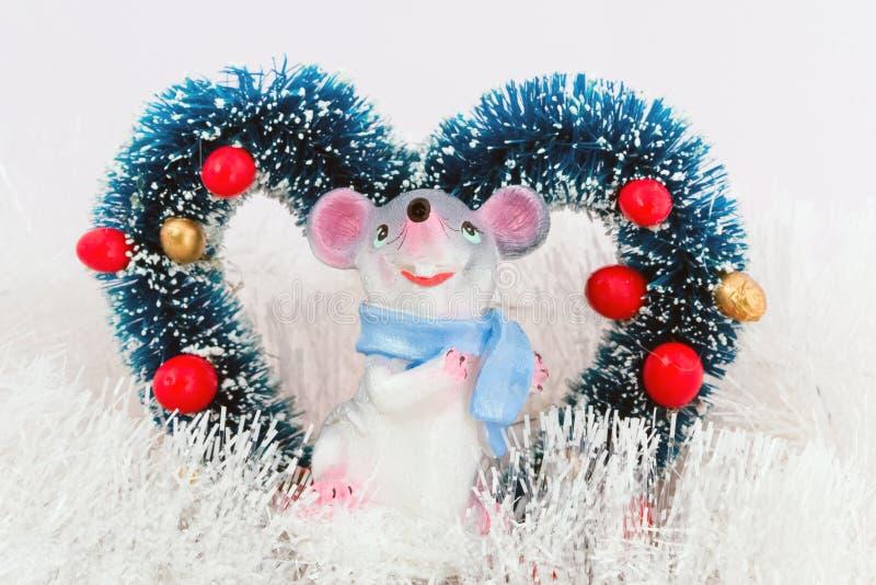 Mouse con cuore fotografia stock libera da diritti