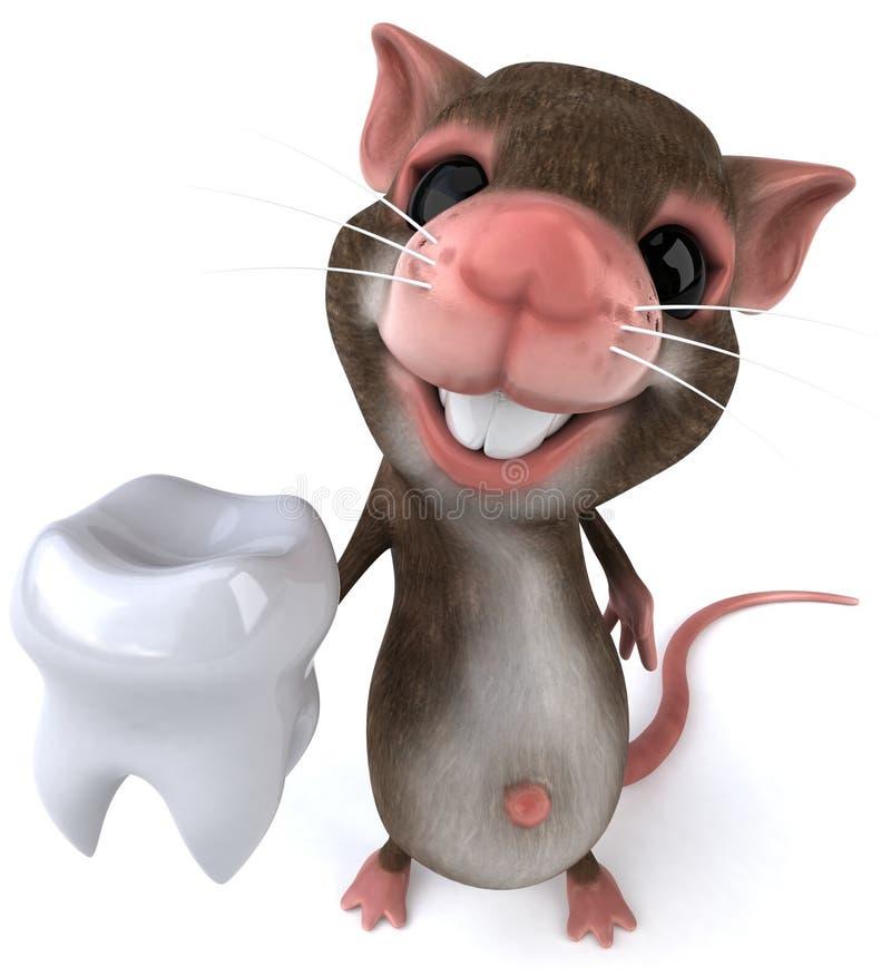 Mouse con un dente royalty illustrazione gratis
