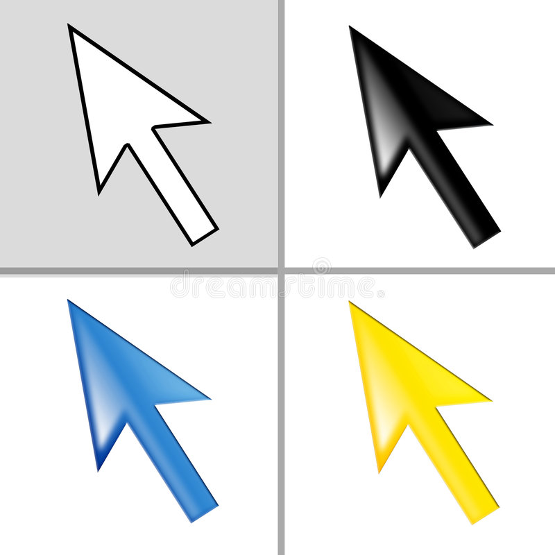 Mouse cursor - pointer - arrow stock illustration