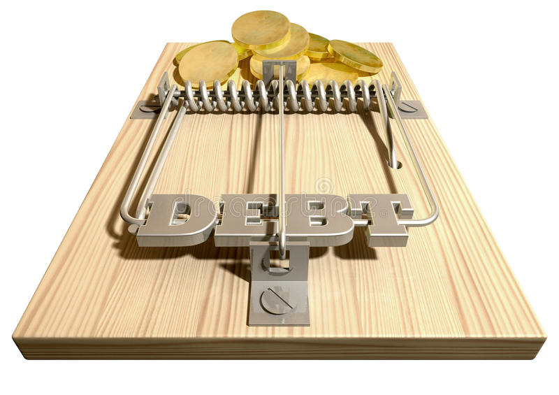 Mousetrap With Trapped Computer Mouse Stock Illustration