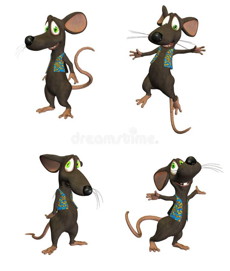 Mouse del fumetto - pack1 royalty illustrazione gratis