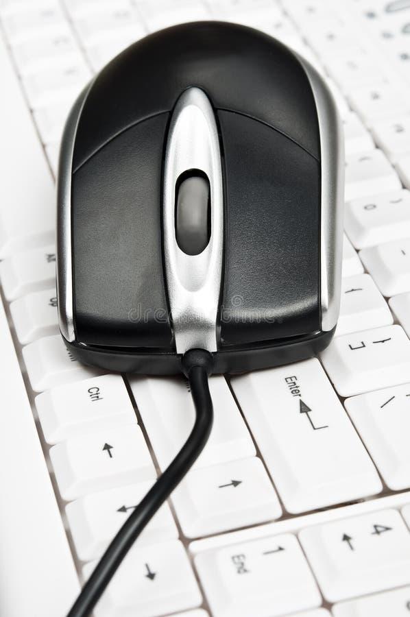 Mouse del pc sulla tastiera immagine stock libera da diritti