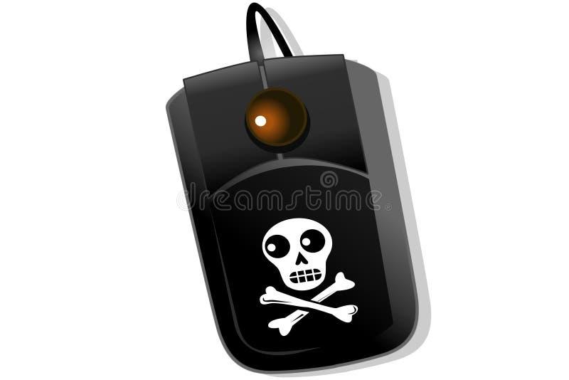 Mouse del pirata royalty illustrazione gratis