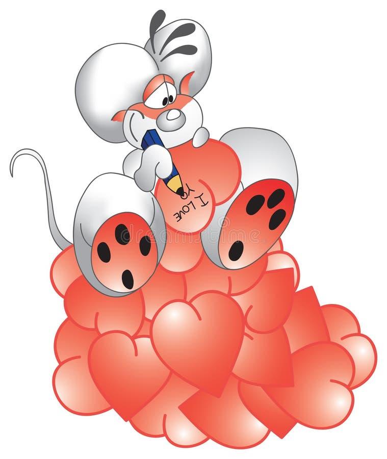 mouse dell'amante royalty illustrazione gratis