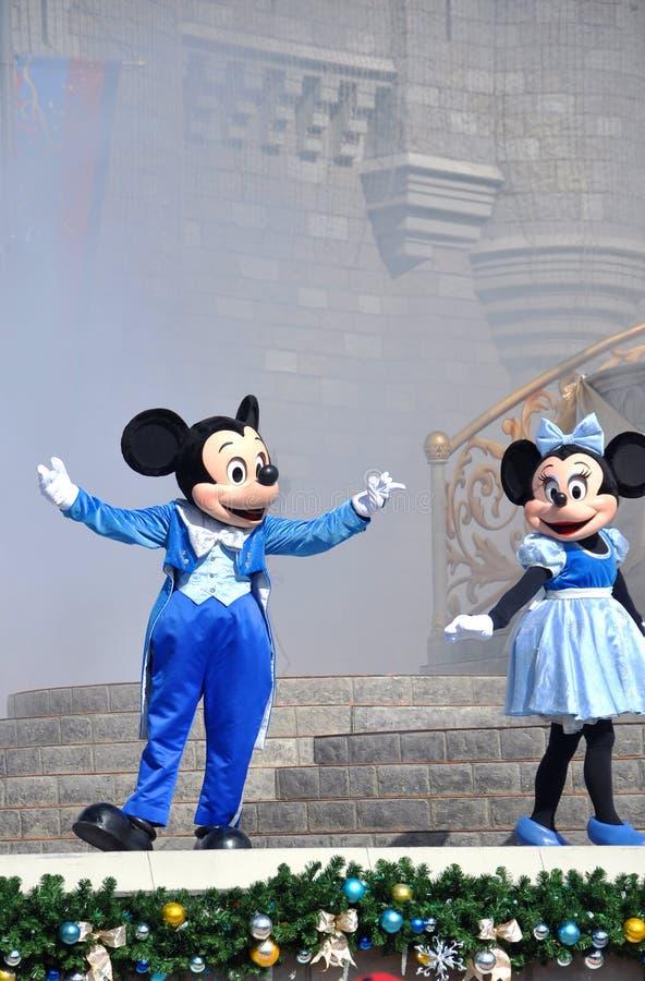 Mouse di Minnie e di Mickey in mondo del Disney fotografia stock libera da diritti