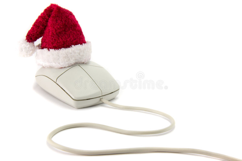 Mouse di natale. immagine stock